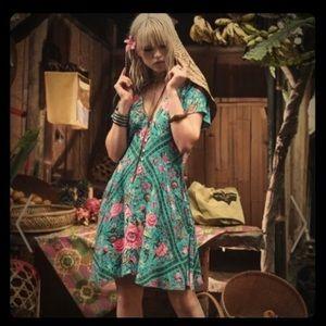 Dresses & Skirts - ISO Bubushka Spell & The Gypsy turquoise mini